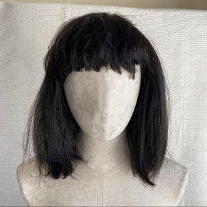 Short Black Dark Brown Wig Halloween Costume